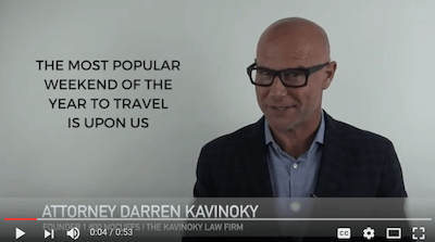 Darren Kavinoky Labor Day weekend raising awareness on drunk driving