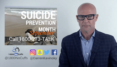 Darren Kavinoky raising awareness for Suicide Prevention Month