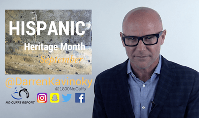 Darren Kavinoky speaking about Hispanic Heritage Month