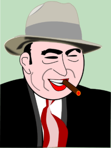 cartoon portrait of al capone