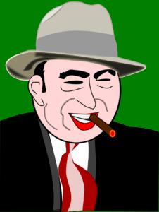 cartoon portrait of al capone